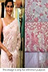 Bollywood Replica Sonam Kapoor Net Saree In Pink Colour NC178