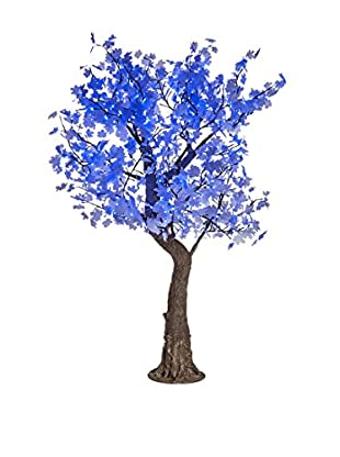 LED White Maple Tree, Blue Bulbs
