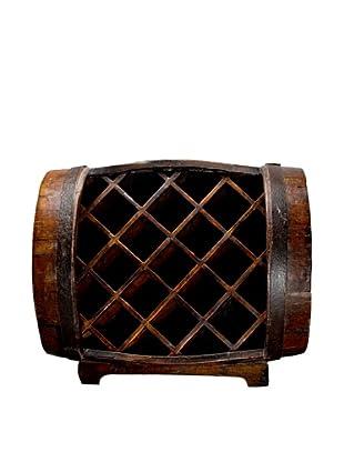Antique Revival Half-Barrel Wine Rack (Natural)