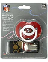 Baby Fanatic Pacifier with Clip, San Francisco 49Ers