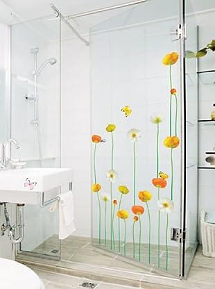 Ambiance Live Wandtattoo Fine and elegant flowers garden mehrfarbig