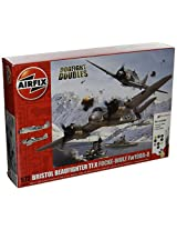 Airfix Bristol Beaufighter Mk X Vs Focke Wulf Fw190 A 8 Dogfight Double Plastic Model Gift Set (1:72 Scale)