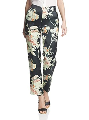 Honor Women's Organza Slim Pant (Black Multi)