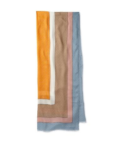 Jonathan Saunders Women's Polka Dot Scarf (Grey/Blue/Beige/Apricot)