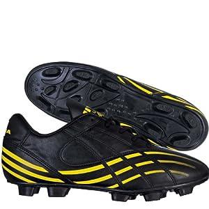 Nivia Super Magic Football Shoes, Black with Yellow 4