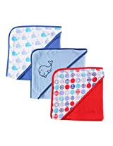 Luvable Friends 3 Count Hooded Towels Whale