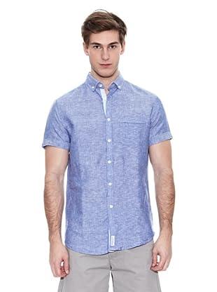 Springfield Camisa Verano Ba Lino S/S (Azul)