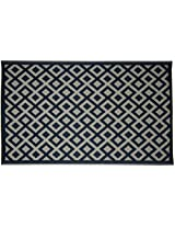 Agra Dari Woolen Carpet - 84'' x 60'' x 0.4'', Black & White