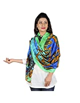 etoles Digital Print Majestic Cotton Chanderi Multi-color Stole for Women