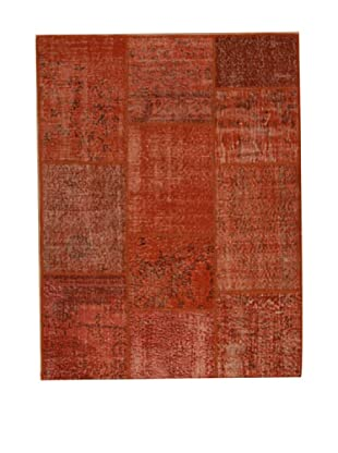 Design Community by Loomier Alfombra Tr Anatolia Patch Rojo 193 x 145 cm