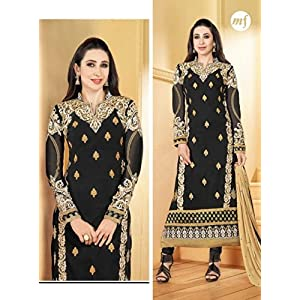 Karishma Kapoor Black Designer Anarkali Suit