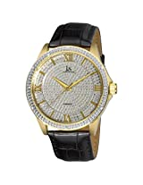 Joshua & Sons Men's JS-19-YG Diamond Quartz Strap Watch