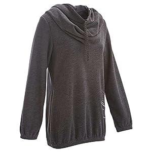 Domyos Relaxation Fleece Women's Jacket - Dark Grey