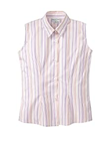 Papo d'Anjo Striped Sleeveless Fitted Shirt (Multicolor)