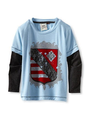 Fore!! Axel and Hudson Boy's Coat of Arms 2-Fer Tee (Sky Blue)