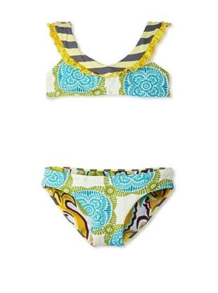 Maaji Girl's Poster Child 2-Piece Swimsuit (Turquoise Multi)