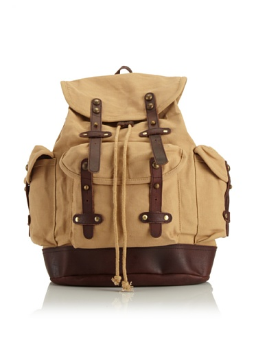 Jamie Young Handbags Women's Rucksack Back Pack (Tan Canvas)