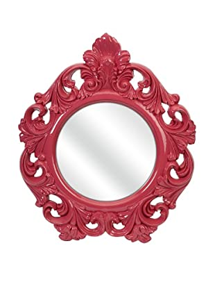 Finely Pink Baroque Wall Mirror