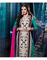 Poly Silk Suit with Dupatta