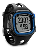 Garmin Forerunner 15 with Hrm Fitness Watch, 1.79 x 2.25 x 0.62-inch (Blue/Black)
