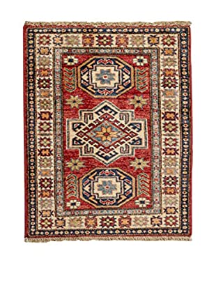 Navaei & Co Teppich Kazak Super rot/blau/beige 77 X 60 cm