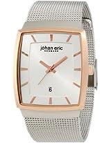 Johan Eric Men's JE1003-04-001.2 Tondor Tonneau Rose Gold IP Mesh Steel Watch