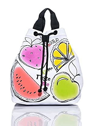 H.Due.O Zaino Summertime Fruits Bianco