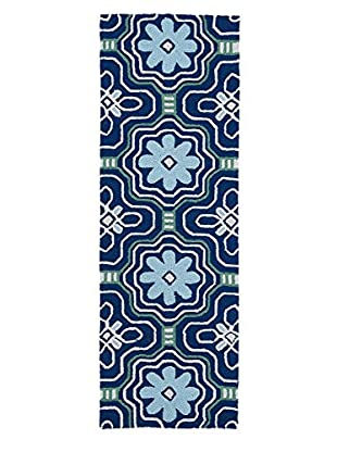 Kaleen Matira Indoor/Outdoor Rug, Blue, 2' x 6' Runner