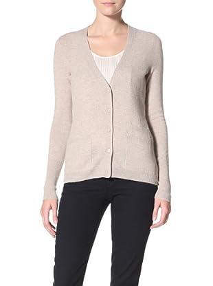 Christopher Fischer Women's V-Neck Cardigan Sweater (Oatmeal)
