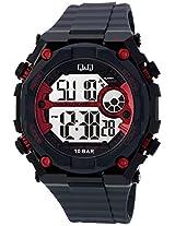 Q&Q Regular Digital White Dial Men's Watch - M127J002Y