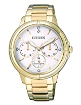 Citizen Analog White Dial Women's Watch - FD2032-55A