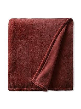 Nautica Fleece Solid Blanket (Red)