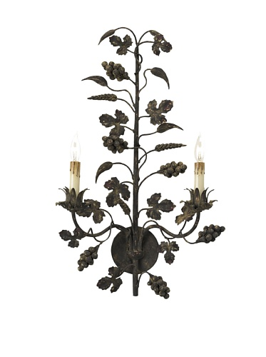 Currey and Company Winterberry Wall Sconce