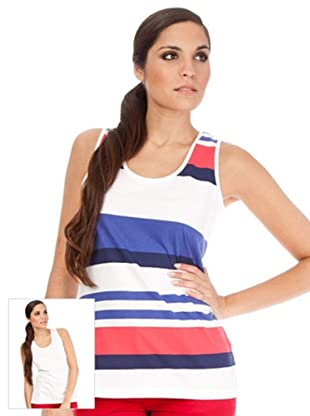 Cortefiel Pack Camisetas Combinada (Azul / Blanco)