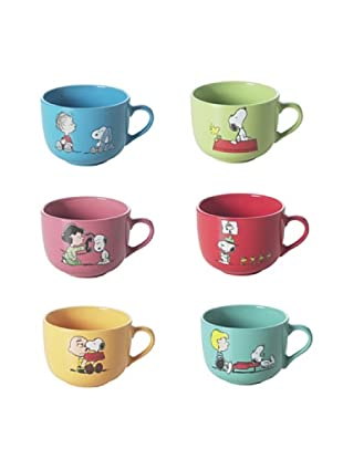 Brunch Time Cappuccinotasse 6 tlg. Set Jumbo Snoopy