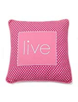 One Grace Place Simplicity Hot Pink Decorative Pillow Live, Hot Pink and White