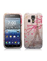 Aimo Wireless Rubberized Image Case for Kyocera Hydro icon C6730 /Kyocera Hydro Life C6530N - Retail Packaging - Eiffel Tower/Pink