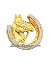 SmartShophar Brass Door Knocker Nickle Silver Finish 7 InchesHorse