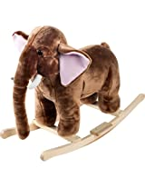 Happy Trails Plush Rocking Mo Mammoth With Sounds - Brown