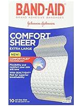 Band-Aid Sheer Adhesive Bandages, Extra Large, 10 ea