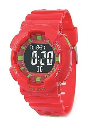 BY BASI A1014U03 - Reloj Unisex movi cuarzo correa policarbonato rojo/verde
