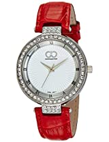 Gio Collection Analog White Dial Women's Watch - G0058-03