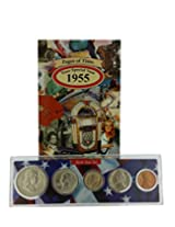 1955 Year Coin Set & Greeting Card : 61st Birthday Or 61st Anniversary Gift