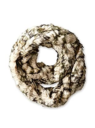 Jocelyn Women's Long Hair Rabbit Knitted Infinity Scarf, Multi