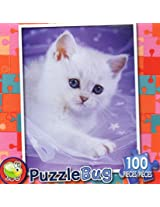 Puzzle Bug 100 Piece Puzzle ~ Cuddle Kitten