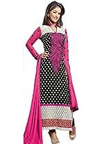 Rozdeal Women Georgette Salwar Suit Dress Material (Rdhp119-34010 _Black _Free Size)