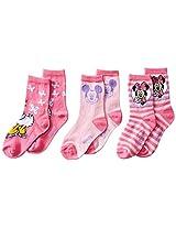 Disney Little Girls' 3 Pack Minnie Crew