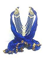 NJS Women's Stole (#JST 03A_Blue_Free Size)