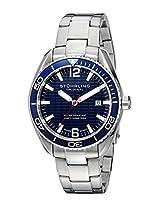 Stuhrling Original Aquadiver Analog Blue Dial Men's Watch - 515.03