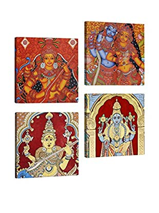 Dekorjinal Set, 4-teilig dekoratives Bild Tul057 (mehrfarbig)